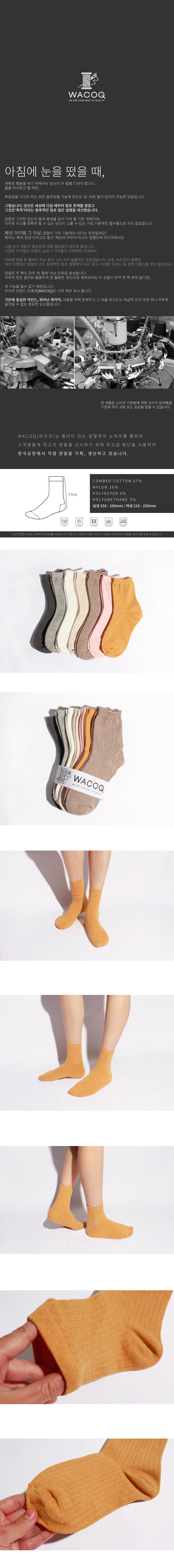 와코크(WACOQ) [5팩] 선택형 여성용 1122 컬러 립 삭스